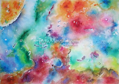 M. Angeles Movilla - Nebulosa del sol Acuarela 50x70cm